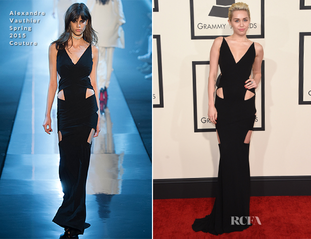 Miley Cyrus In Alexandre Vauthier Couture - 2015 Grammy Awards