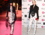 Miley Cyrus In Schiaparelli Couture - Elton John's AIDS Foundation's Oscar Viewing Party