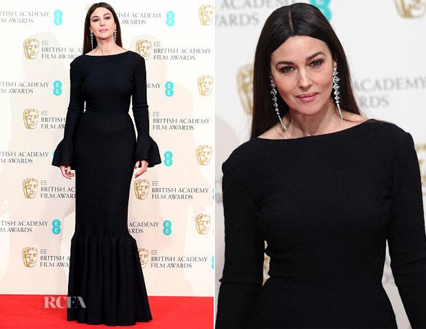 Monica Bellucci In Alaia - 2015 BAFTAs