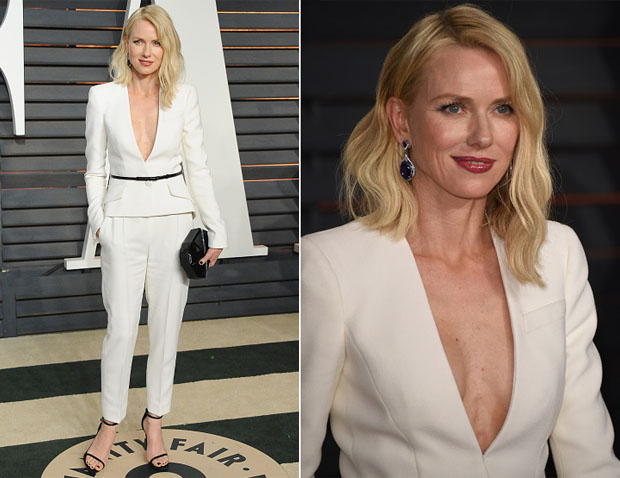 Naomi Watts In Giorgio Armani - 2015 Vanity Fair Party