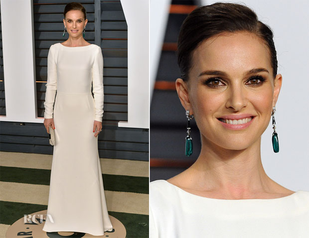 Natalie Portman In Christian Dior - 2015 Vanity Fair Party