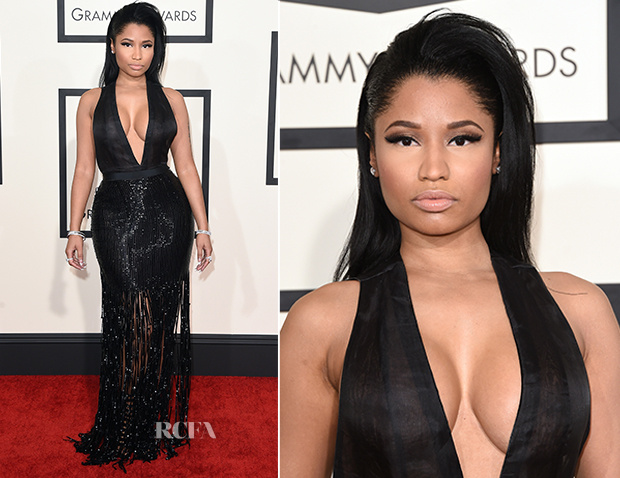 Nicki Minaj In Tom Ford - 2015 Grammy Awards