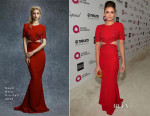 Nina Dobrev In Reem Acra - Elton John's AIDS Foundation's Oscar Viewing Party