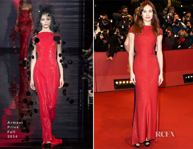 Olga Kurylenko In Armani Privé - 'Nobody Wants the Night' Berlin Film Festival Premiere