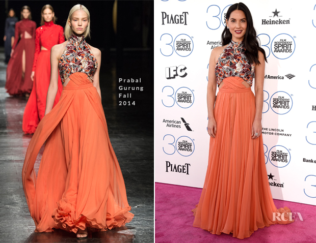 Olivia Munn In Prabal Gurung - 2015 Film Independent Spirit Awards