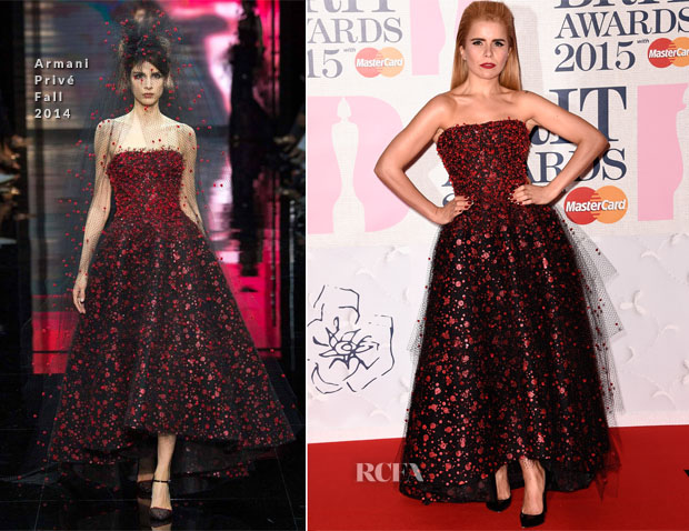Paloma Faith In Armani Privé 2015 BRIT Awards