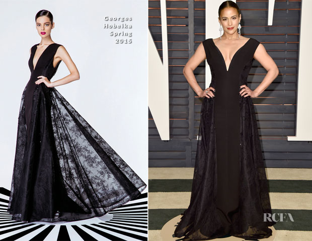 Paula Patton In Georges Hobeika - 2015 Vanity Fair Party