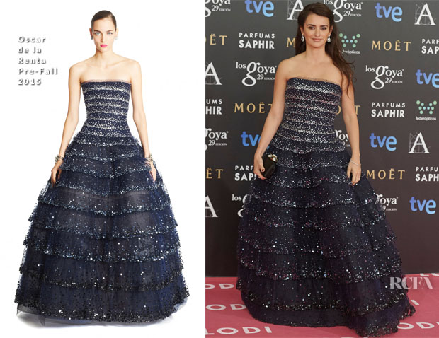 Penelope Cruz In Oscar de la Renta - 2015 Goya Awards