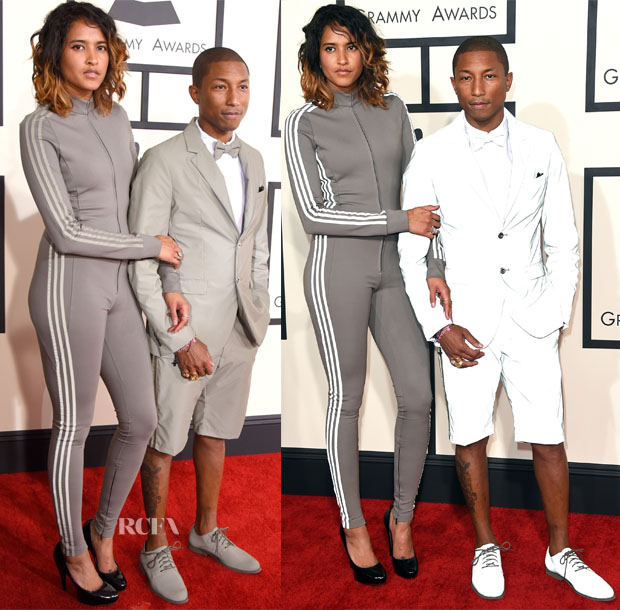 Pharrell Williams In Adidas - 2015 Grammy Awards