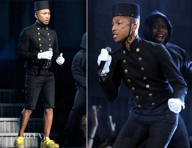 Pharrell Williams In Chanel - 2015 Grammy Awards
