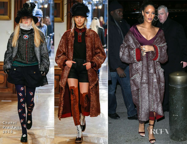 Rihanna Chanel Pre-Fall 2015 Coat