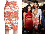 Rihanna's Altuzarra Balthazar Floral-Print Skirt