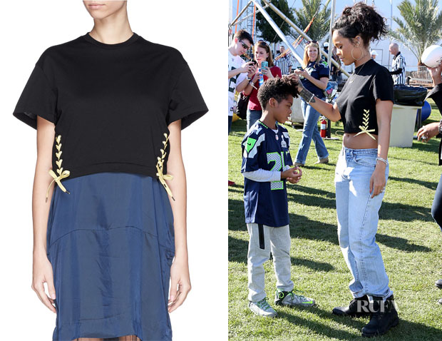 Rihanna's Toga Archives Bow Side Crop Top