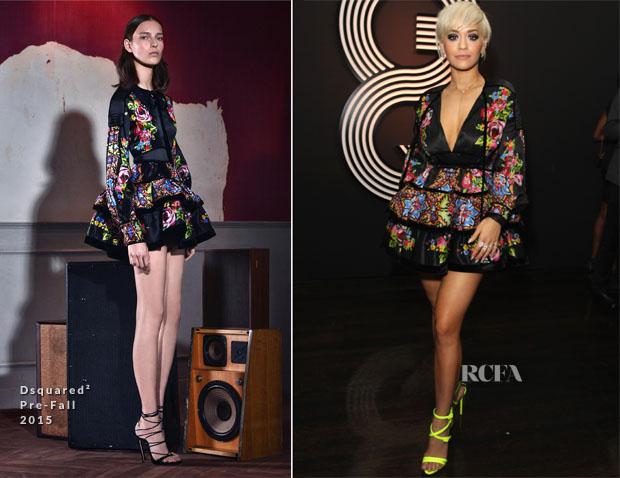 Rita Ora In Dsquared² - GQ Celebrates The Grammys With Giorgio Armani