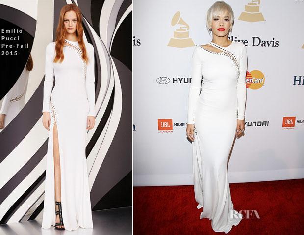 Rita Ora In Emilio Pucci - Pre-GRAMMY Gala And Salute Honouring Martin Bandier
