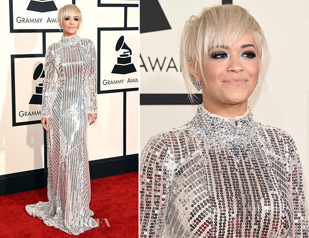 Rita Ora In Prada - 2015 Grammy Awards_