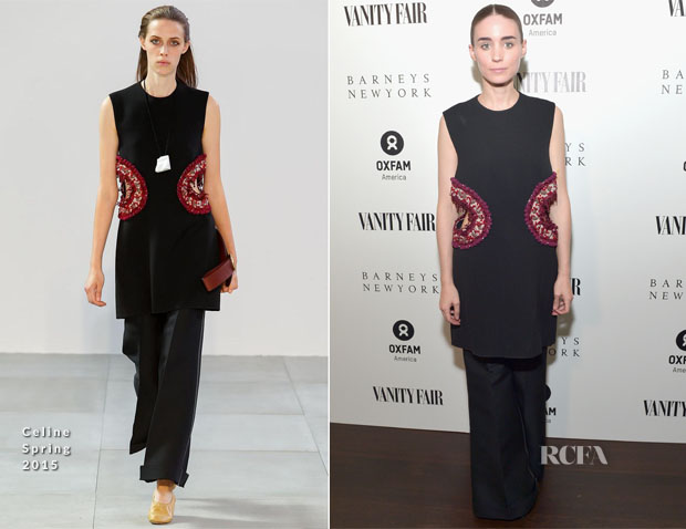 Rooney Mara In Celine - Vanity Fair and Barneys New York Dinner benefiting OXFAM