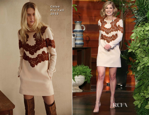 Rosamund Pike In Chloé - The Ellen DeGeneres Show