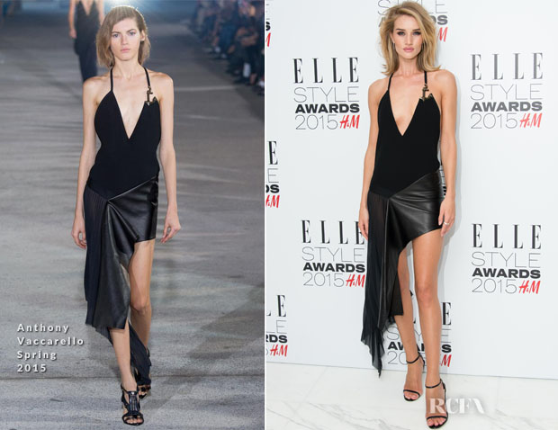 Rosie Huntington-Whiteley In Anthony Vaccarello - 2015 Elle Style Awards