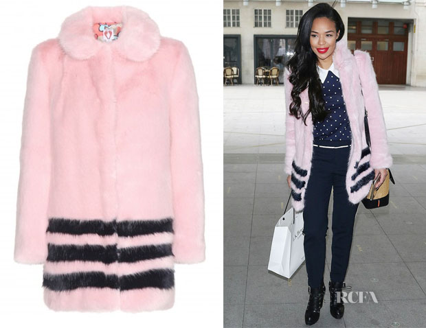 Sarah-Jane Crawford's Shrimps Dulcie Faux-Fur Coat