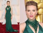 Scarlett Johansson In Atelier Versace - 2015 Oscars