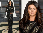 Selena Gomez In Louis Vuitton - 2015 Vanity Fair Oscar Party