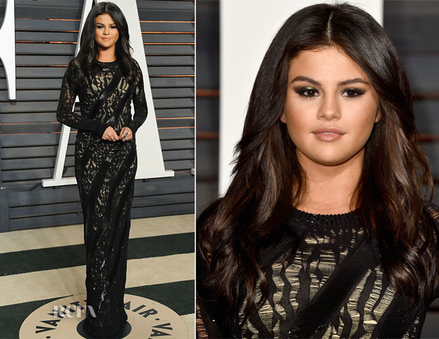 Selena Gomez in Louis Vuitton - 2015 Vanity Fair Party