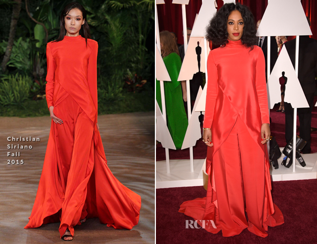 Solange Knowles In Christian Siriano - 2015 Oscars