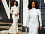 Solange Knowles In Naeem Khan - 2015 Vanity Fair Oscar Party