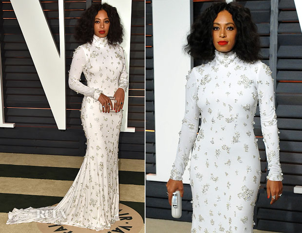 Solange Knowles In Naeem Khan - 2015 Vanity Fair Party