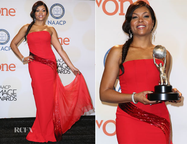Taraji P Henson In Edition by Georges Chakra - 2015 NAACP Image Awards