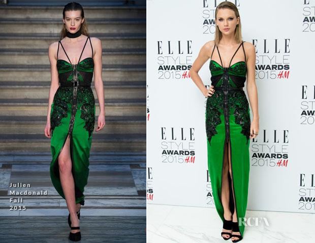Taylor Swift In Julien Macdonald - 2015 Elle Style Awards