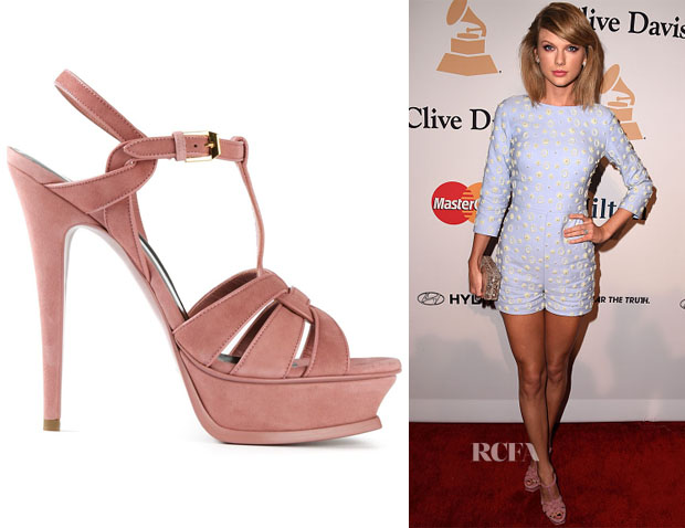 Taylor Swift's Saint Lauretn 'Tribute' Sandals