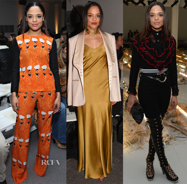 Tessa Thompson Front Row @ Giulietta, Jenny Packham & Rodarte's Fall 2015 Shows