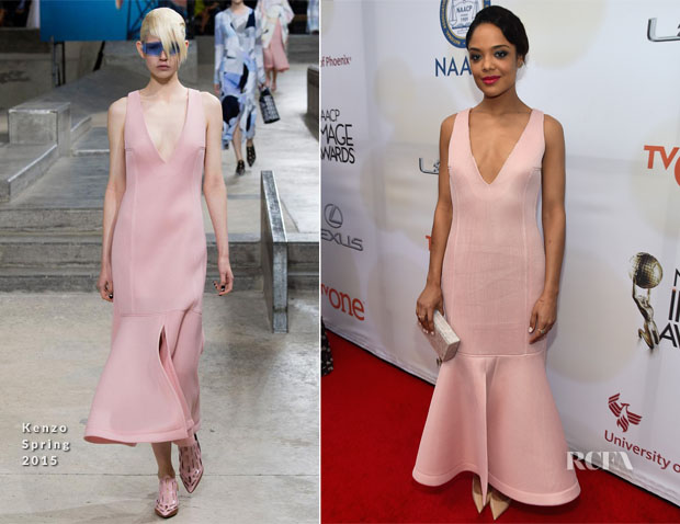 Tessa Thompson In Kenzo - 2015 NAACP Image Awards