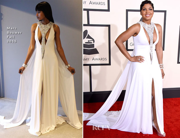 Toni Braxton In Marc Bouwer - 2015 Grammy Awards