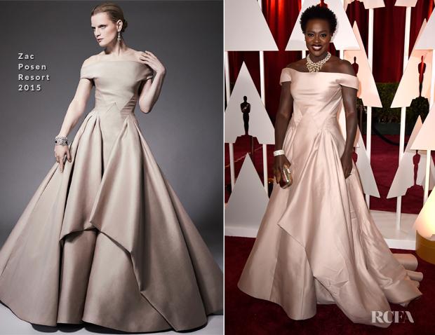 Viola Davis In Zac Posen - 2015 Oscars
