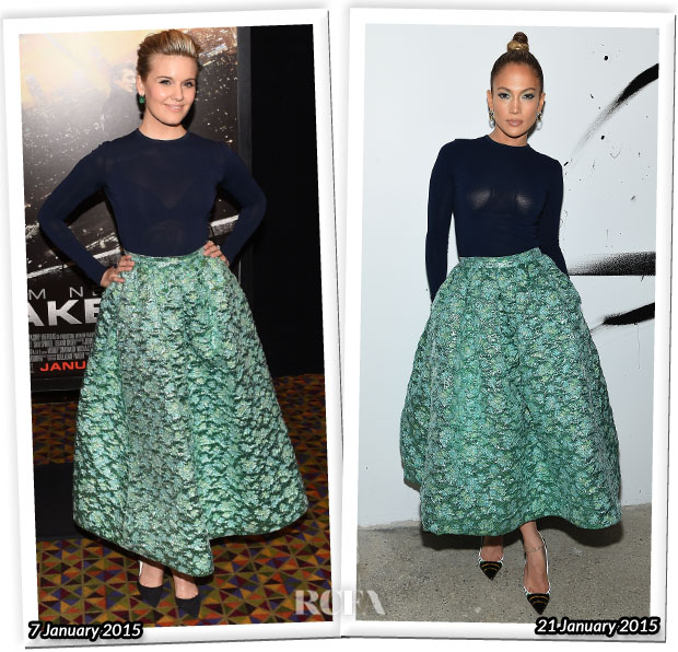 Who Wore Christian Siriano Better Maggie Grace or Jennifer Lopez