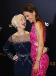 Helen Mirren in Badgley Mischka and Katie Holmes in Zac Posen