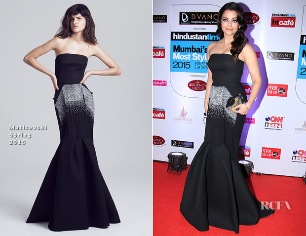 Aishwarya Rai Bachchan In Maticevski - 2015 Hindustan Times Mumbai's Most Stylish Awards