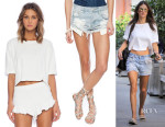 Alessandra Ambrosio's Sam & Lavi Noelle Top & One Teaspoon Bandit Shorts