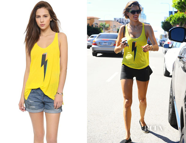 Alessandra Ambrosio's Wildfox Bolt Shark Tank Top