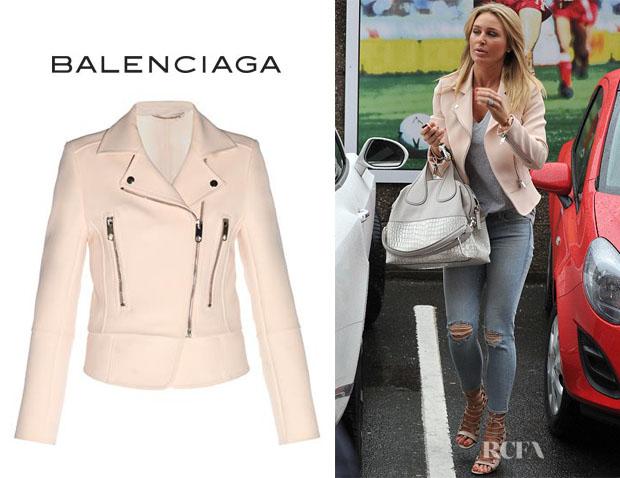 Alex Gerrard's Balenciaga Bonded-Crepe Biker Jacket