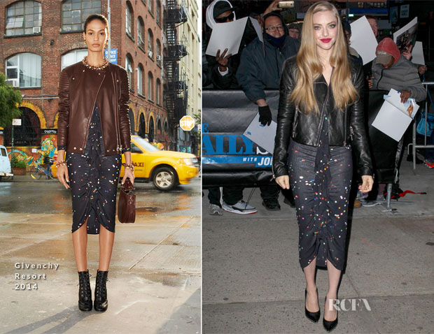 Amanda Seyfried In Givenchy & J Brand - The Daily Show with Jon Stewart