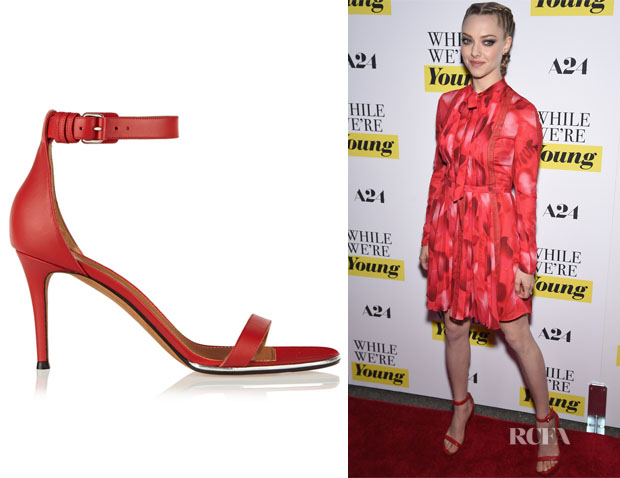 Amanda Seyfried's Givenchy Nadia Red Leather Sandals