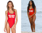 Angela Simmons' Wildfox Couture This Bod's For You 80's Zipper One-Piece