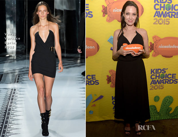 Angelina Jolie In Versus Versace - 2015 Nickelodeon Kids' Choice Awards