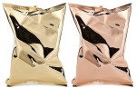 Anya Hindmarch' 'Crisp Packet' 18ct yellow-gold and rose-gold clutches