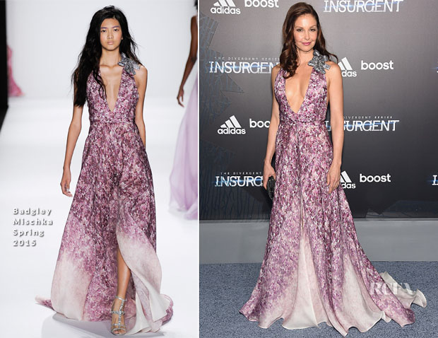 Ashley Judd In Badgley Mischka - 'Insurgent' New York Premiere
