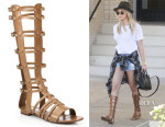 Ashley Tisdale's Saint Laurent Leather Gladiator Sandals
